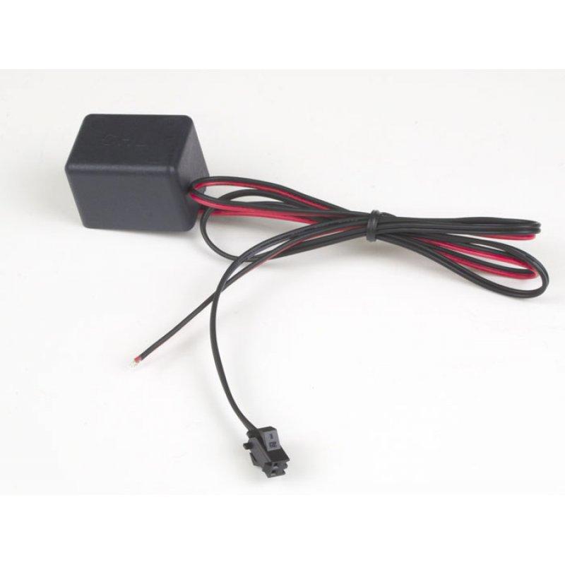 EL-Inverter 12V für Folien bis 200qcm, Bänder bis 2m, Kabel