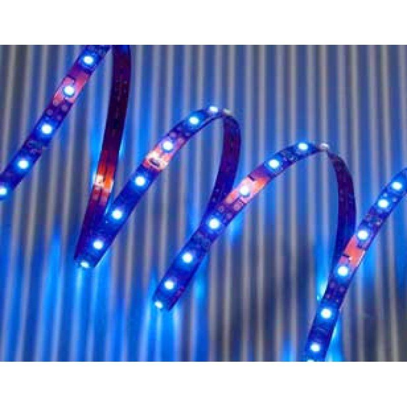 led leuchtstreifen flexibel 8mm breit 60 led m blau. Black Bedroom Furniture Sets. Home Design Ideas