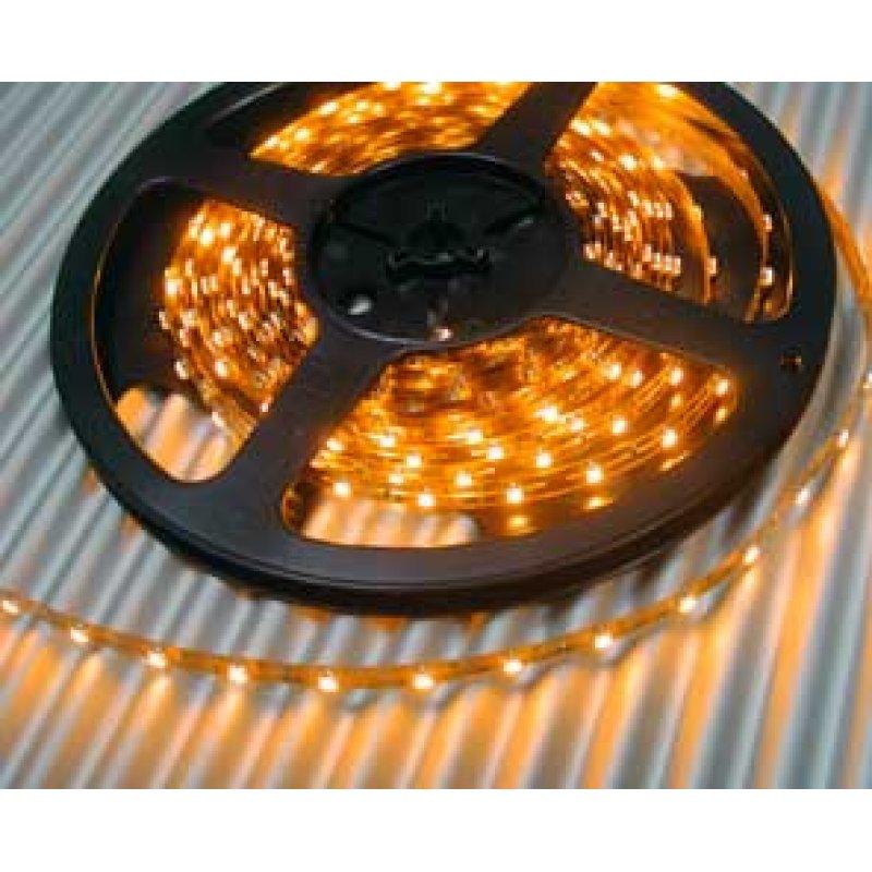 led leuchtstreifen flexibel 8mm breit 60 led m gelb. Black Bedroom Furniture Sets. Home Design Ideas